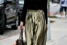 Металлизированные ткани / metallic fashion