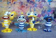 Monsters of paper / Quilling 3d  my idea and realization