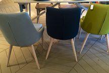 Pomax #EERO dining Chair / Pomax nieuwe zomer collectie stoel #EERO deining Chair eetkamerstoelen groen, grijs, blauw, geel en jeans blauw