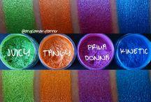 Makeup/vivid eye colours