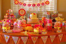Anniversaire rose orange // pink and orange birthday