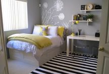 My bedroom Inspiration / White with pops of color