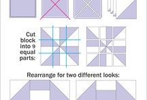 two colours quilt pattern