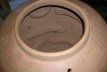 ceramica graffita / riproduzione di ceramiche graffite medievali, rinascimentali; terrecotte romane, celtiche