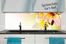 Spritzschutze für's Bad / Badwand mit Wohlfühlgarantie - Spritzschutz für's Bad!