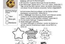 Motivstanzen: 3D-Kugel aus gestanztem Papier / Punch Art: 3D-Kugel aus gestanzten Papier. Mit Blumen oder Sterne mit 5 Spitzen.