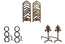 The Skinny on Andirons / Andirons, once an absolute necessity to heat dinner and hold logs in the cold winter months of yesteryear, are now a decorative and functional option to help warm your home, luxuriously.