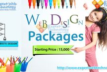 Website Designing Packages / Expert Web Technology Offers Website Designing Packages Starting Price : 15,000.  - 5 Page Website - 2 Design Revisions - Free Web Hosting - Email Forms - Social Networking