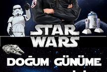STAR WARS DOĞUM GÜNÜ / STAR WARS ya da YILDIZ SAVAŞLARI  George Lucas tarafından tasarlanmış, öncelikle filmleriyle tanınmış, sonraki yıllarda çizgi roman, bilgisayar ve konsol oyunları, televizyon yapımları vb. dallarda ününü geliştirmiş kurgusal evren ve marka alıntısını yaptıktan sonra yeni kuşaklar tarafından da sevilerek takip edildiğini ekleyebiliriz. Şimdiki çocuklar için doğum günü teması olarak da kullanılıyor. Bu panoda resimlerini  takip edebilirsiniz :) / by PartiSepeti.com