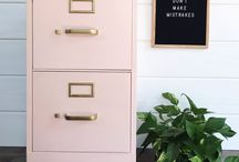 Painted filing cabinets