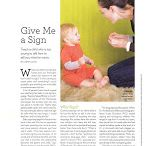 The Baby Signs Program in the News