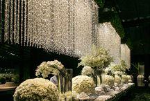 Gantungan tirai bunga dekor
