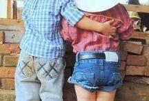 Enfants cowboy