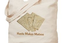 Passover Tote Bags / These Passover Tote Bags make unique seder, Passover or year round gifts. Made of 10 oz heavyweight natural canvas fabric, they are extremely useful and even machine washable.