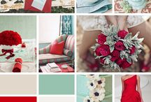 TOUCH OF COLOUR...REDS AND SOFT MINT
