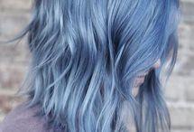 strangy hair