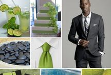Green and Charcoal Wedding