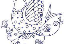 Patron oiseau Crewell