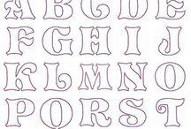 litery szablon