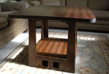 """25 inch Arts and Crafts Pagoda Table with 1.25"""" thick top / 25 inch Arts and Crafts Pagoda Table with 1.25"""" thick top"""