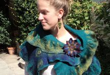 felted scarves and wraps