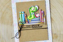book worm clear stamps
