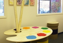 Children's playroom with cancer