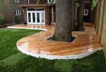 Cedar Deck with Pergola, Gate and Horizontal Fence