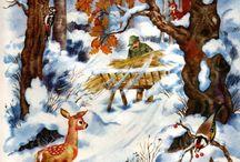 Škôlka-Zvieratá v zime