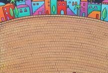 artwork inspiration buildings