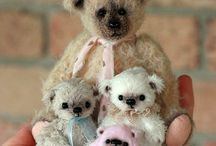 teddy bears and dolls