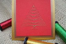stitched cards / by Ramona Peterson