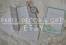 Etsy Party, Decor, and Gifts / This board is to share your Etsy pins relating to party, decor, and gifts so anyone can find all of the items they need for their next event. To join, please contact me at steph@lareveuse.net and follow me on Pinterest (I won't be able to follow you until you do!). Invite your friends to share their passion as well. No spamming, 3 pins/day preferably spread out through the day, only pins relating to the board topic, and only Etsy shop listings.