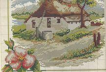 Křížková předloha dům 2