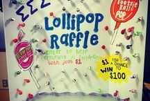 Lollipop raffle for box of cards.