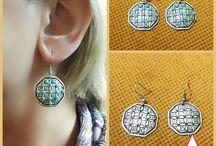 Turquoise Silver Earrings. Statement Earrings, Boho Silver Earrings, Gypsy Earrings, Tribal Jewelry, Handmade Earrings, Tribal Earrings