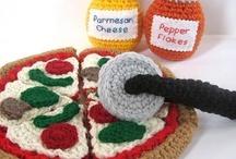 crochet pizza