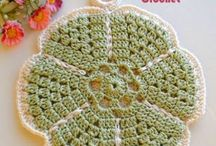 Knitting, crocheting and embroidery