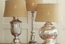 Mercury Glass Lamps DIY