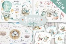Easter and Spring party ideas / Totally adorable ideas for any spring or Easter themed parties!  Drink and food recipes, crafts, decorating ideas, invitations, and more.