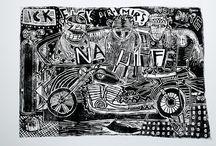 Linocut / jooken Artwork