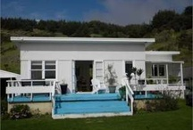 New Zealand Bach and Cribs / Wee little holiday homes common in New Zealand. In the north island called a Bach, in the south called Cribs.