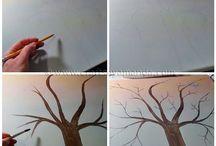 Пуговички на дереве