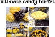 Black and Yellow Candy Buffet / by Candy Galaxy