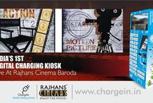 Chargein is a Mobile Charging Kiosk for all movie fans