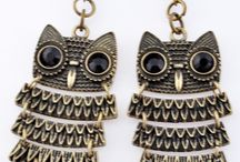 Owls / Everything jewelry with owls.