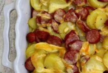 gratin de pomme de terre saucisse e t reblochon