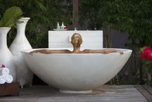 Tropical Living - outdoor baths & showers / no exotic holiday is complete without a relaxing luxurious outdoor bathroom experience