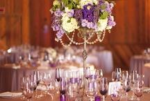 purple wedding decor ideas / by Allyson Magda