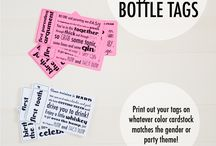 baby shower bottle tags